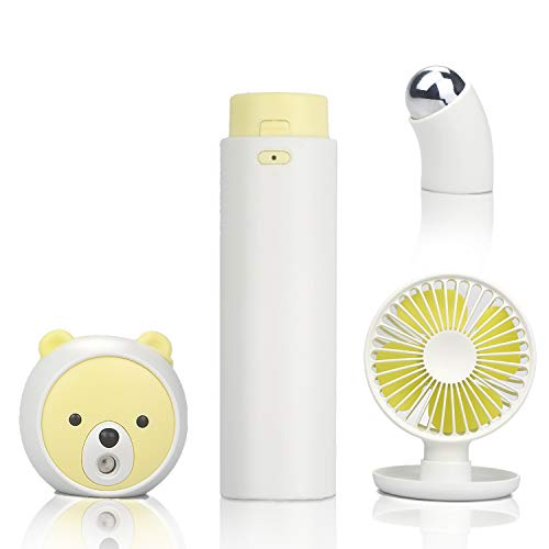 Paick補水美顔器 目元ケア 美容器 携帯扇風機 USB充電式 噴霧式 携帯ミ...