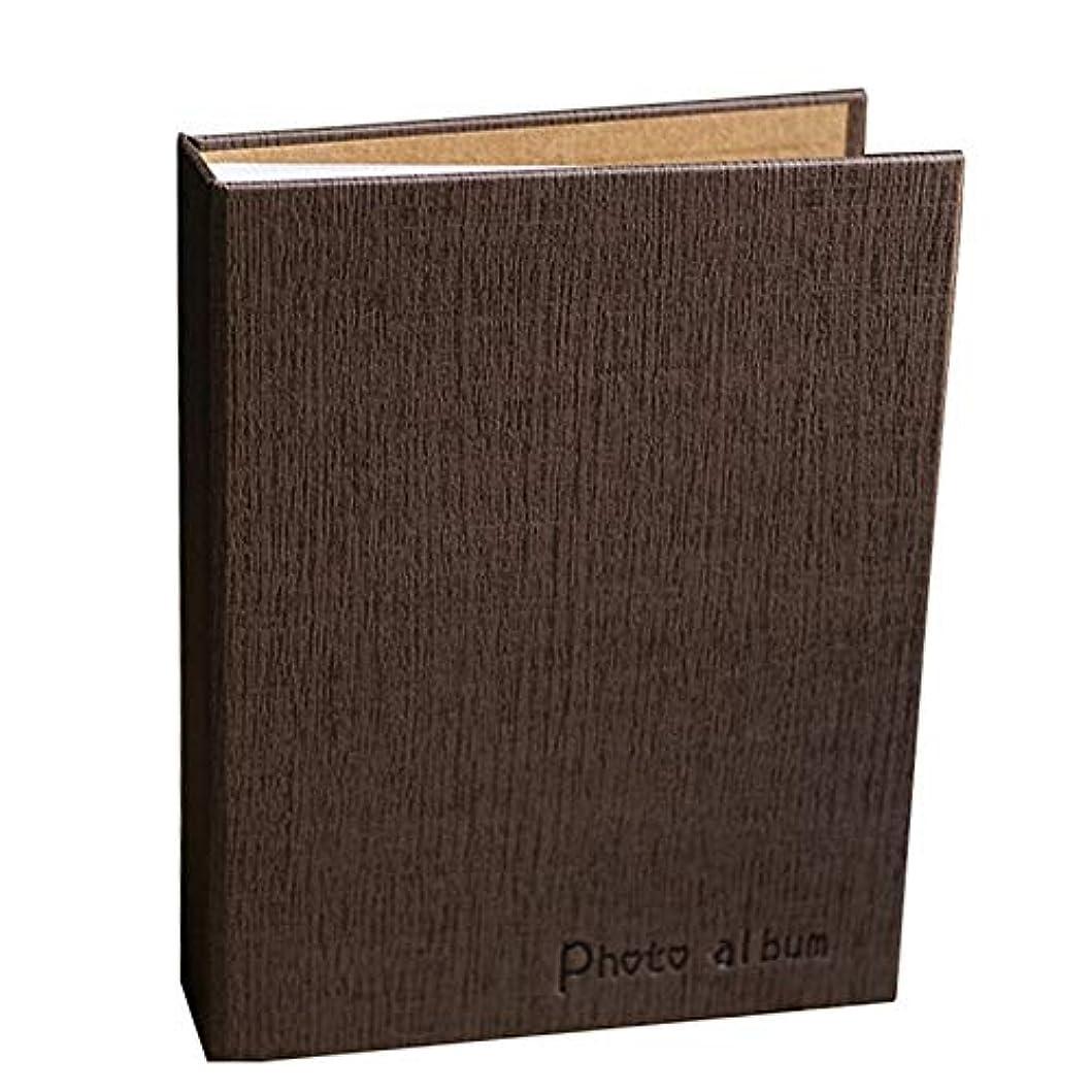 丈夫ウミウシ守銭奴ポケットフォトアルバムの創造的な家族のアート紙カバー挿入アルバムは120枚のシートを保持できます (Color : 褐色)