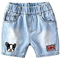ZCLADLY Children's Summer Denim Shorts Korean Version of The 2019 New Hot Hot Pants Fifth Loose A Generation of Children Damp (Color : Light Blue, Size : 100cm)