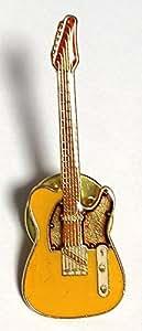 テレキャス ギター ミニピン 黄 Tele Guitar Yellow Mini pin