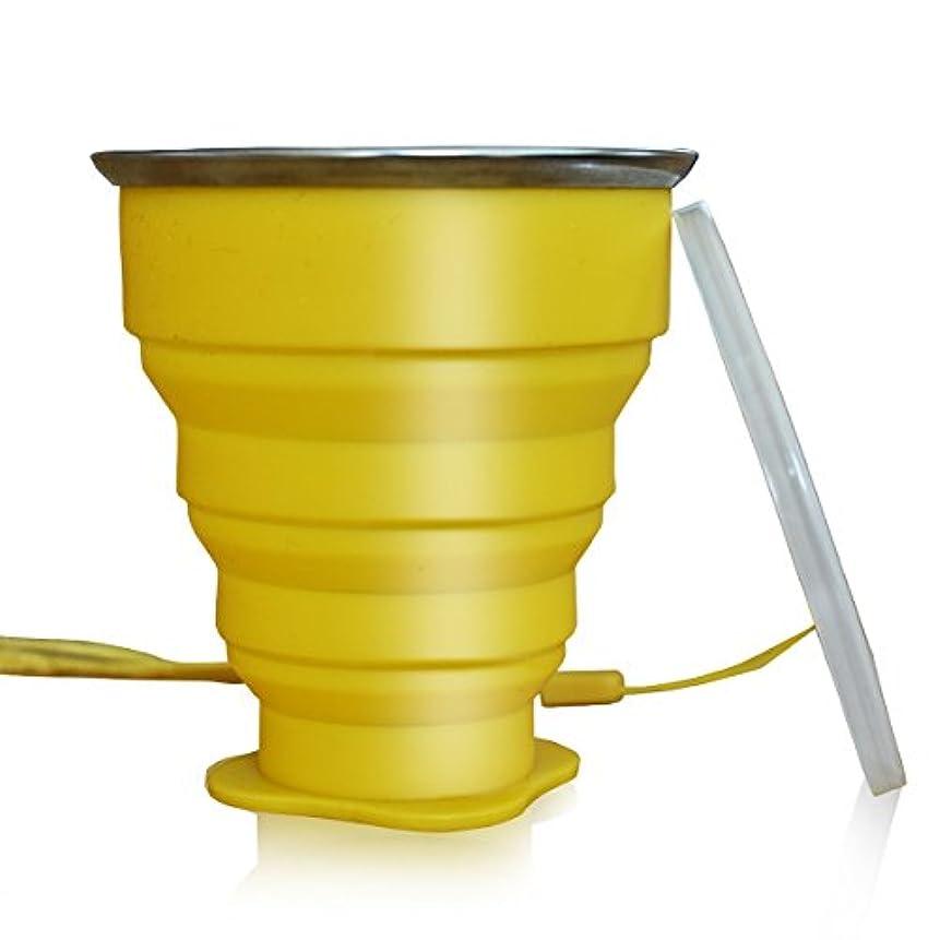 うんざりブルゴーニュコミュニケーション折り畳み式トラベルカップ 蓋付き純正6.5オンスドリンクマグ BPAフリー シリコン製 水 コーヒー 紅茶 スナック付き ハイキング キャンプ ピクニック 通勤