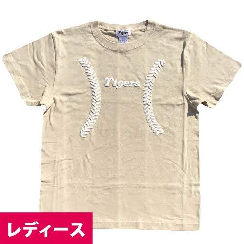 NPB 阪神タイガース グッズ ボールプリントTシャツ(レディース) (ベージュ) - Womens-M