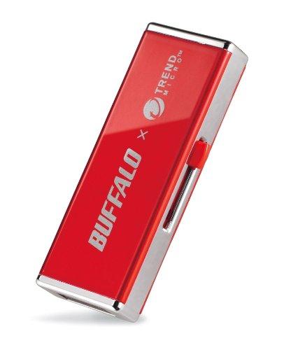 ウィルスチェック機能搭載 USBメモリー レッド 8GB バッファロー RUF2-JV8GS-RD