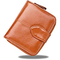 女性のショートウォレットオイルワックス2つ折り財布カードパッケージ