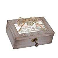 Cottage Garden Nana Our Hearts Home Happiness Grey Distressed Locket Petite Music Box Plays Edelweiss