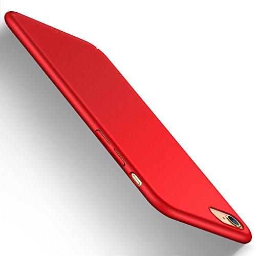 iPhone 6s plusケース iphone6plus ケース,Humixx 超スリム 耐衝撃 指紋防止 レンズ保護 赤(アイフォン6sプラスケース,レッド)[Skin Series]