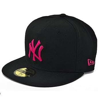 ニューエラ キャップ ヤンキース ブラック/ストロベリーピンク 帽子 NEWERA CAP YANKEES(MLB)BLACK/STRAWBERRY PINK 11308565