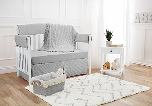 American Baby Company Heavenly Soft 6 Piece Crib Bedding Set, Grey