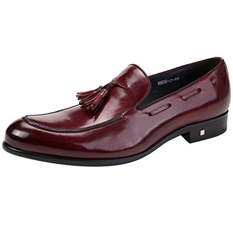 疑い者暴徒先のことを考えるWEWIN タッセルローファー メンズ ビジネス 本革 モカシン スリッポン ドライビングシューズ 革靴 カジュアル 紳士靴 ファッション