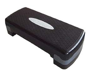 エアロビックステップ、踏み台昇降運動器具 黒x薄グレー