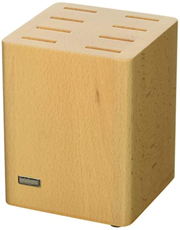 ArtelegnoナイフブロックソリッドBeech Wood 5スロットクラシックforブレードUp To 9.4インチ、豪華なイタリアコレクションbyマスター職人による表示ハイエンドKnivesエレガントに、環境に優しい-- Natural Finish
