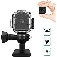 YAOAWE スポーツ防水カメラHD 1080P 防犯超小型カメラの暗視撮影8M 移動検出機能を搭載した広角155°水の下30 M循環ビデオと1キーのクランクイン機能を搭載しています。