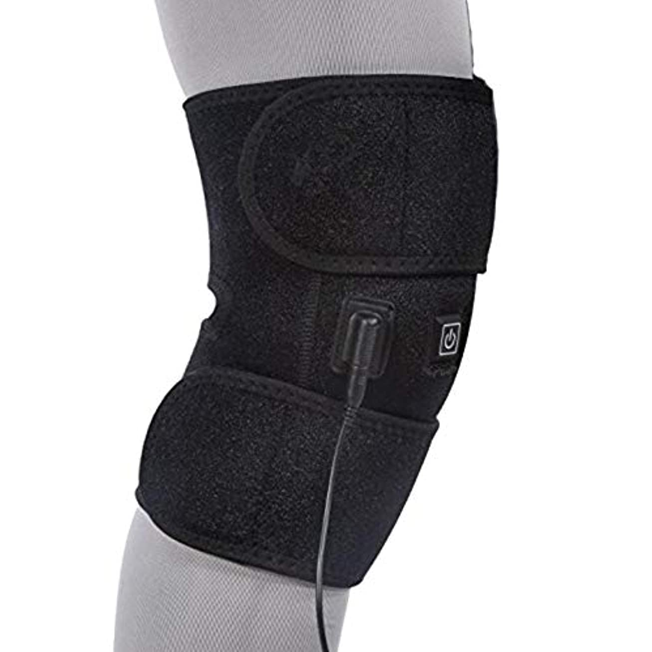おとなしいグラムセンターLEKING 膝サポーター 充電式 膝関節加熱マッサージ 3段温度可調 膝マッサージャー マッサージ器 フットマッサージャー ひざ マッサージャー 振動 赤外線療法 温熱療法 防寒 膝痛、神経痛、関節痛、冷え症に対応 筋肉痛緩和 ストレス解消 膝サポーター 膝マット 太もも/腕対応 通気性 男女兼用 (ブラック, B)