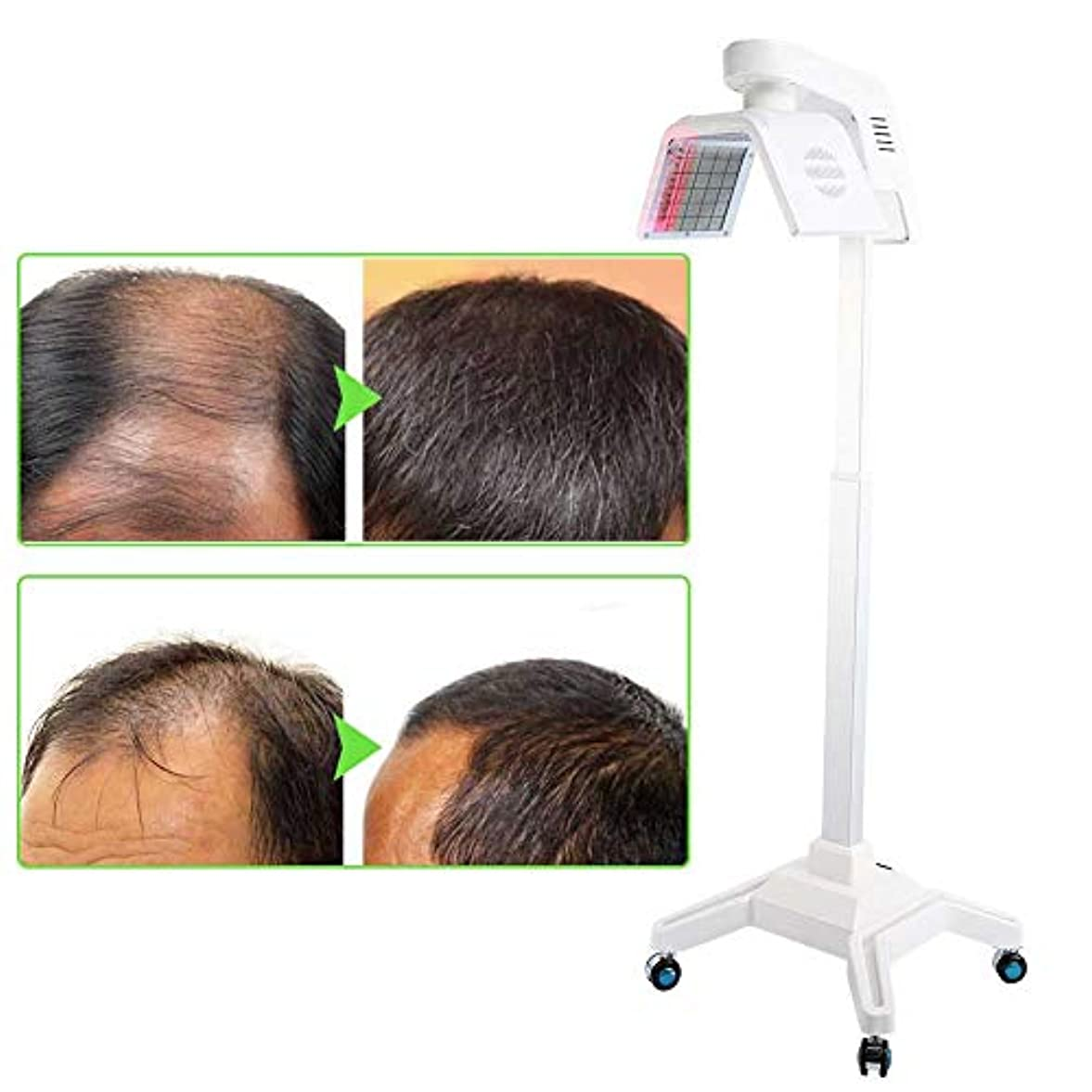 課税進行中ボート育毛システム650NMは、薄毛の男性と女性のための髪の再成長マシンヘアケアデバイスを刺激します。
