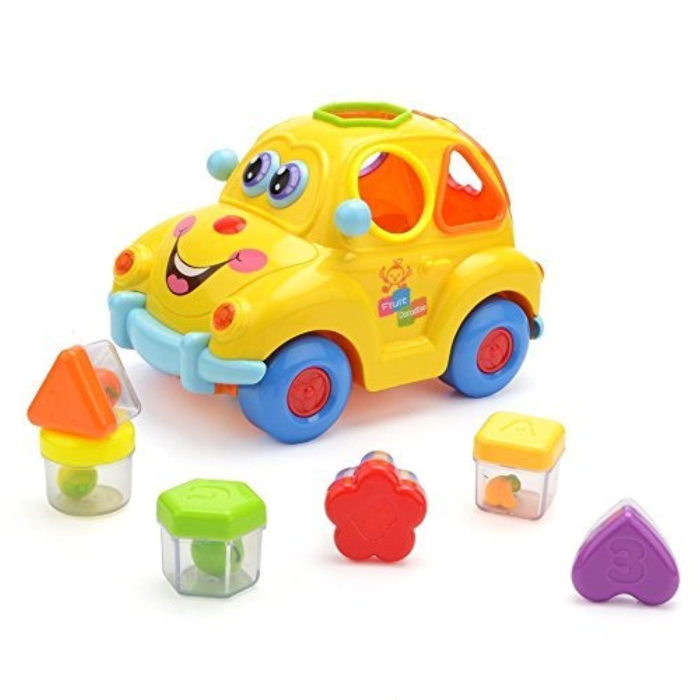 フルーツ車minicarドライバPretend Play Car Toys Happytime hl516 (2017摩擦車サウンドフルーツ認識とLokフィットToys形状一致する教育Spinning Train Set