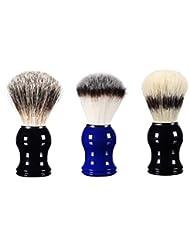 sharprepublic メンズ用 髭剃り シェービングブラシ 樹脂ハ ンドル 理容 洗顔 髭剃り 男性 ギフト 3個入