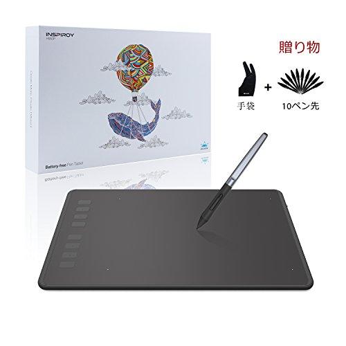 Huion H950P 8192筆圧感度 ペンタブレット 8.7*5.4インチ お描き osuゲーム Window/Mac対応