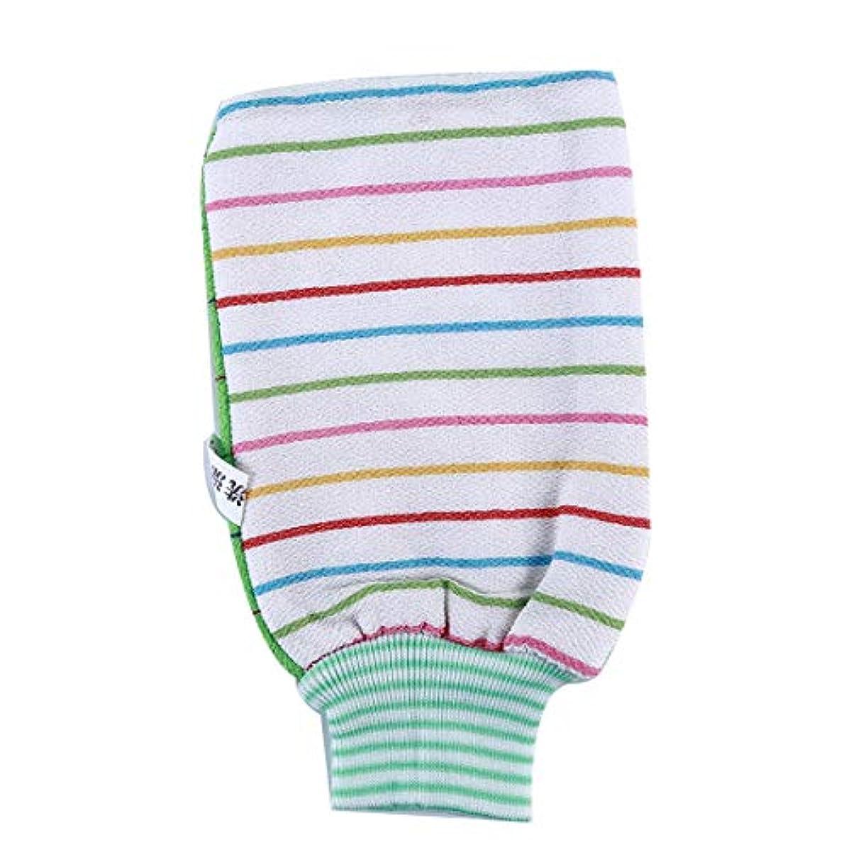 拮抗楽観的目立つKLUMA 浴用手袋 ボディ手袋 ボディタオル 垢すり用グローブ 毛穴清潔 角質除去 入浴用品 グリーン