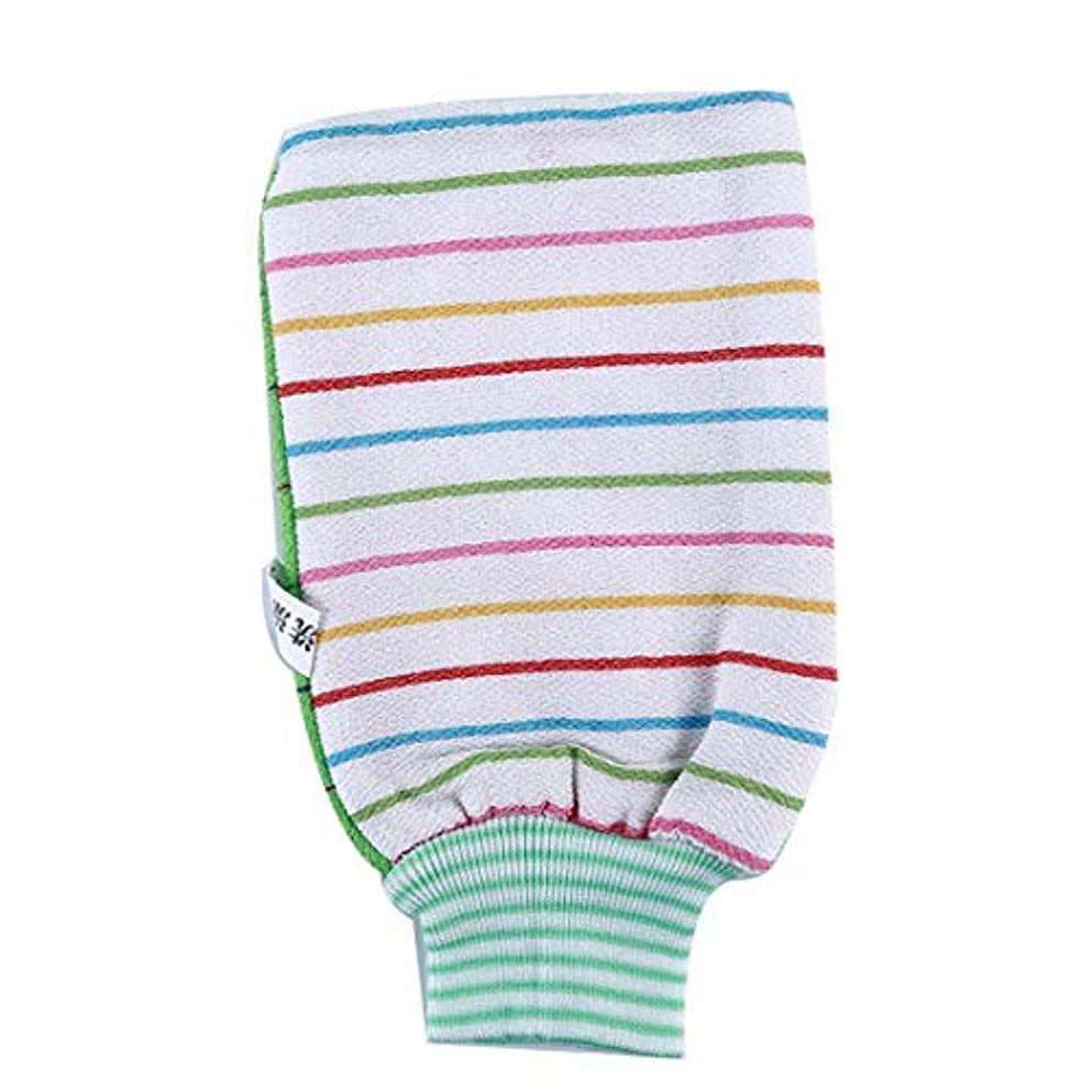通り縁モデレータKLUMA 浴用手袋 ボディ手袋 ボディタオル 垢すり用グローブ 毛穴清潔 角質除去 入浴用品 グリーン
