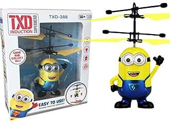 光る! 自動で飛ぶ! ミニオン ヘリコプター 操縦不要 オートラジコン おもちゃ USJ RC ドローン プレゼント 男の子 女の子