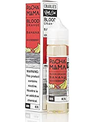 【正規品】PACHAMAMA 60ML電子タバコ用液体 - ニコチンなし (Blood Orange/Banana/Gooseberry)