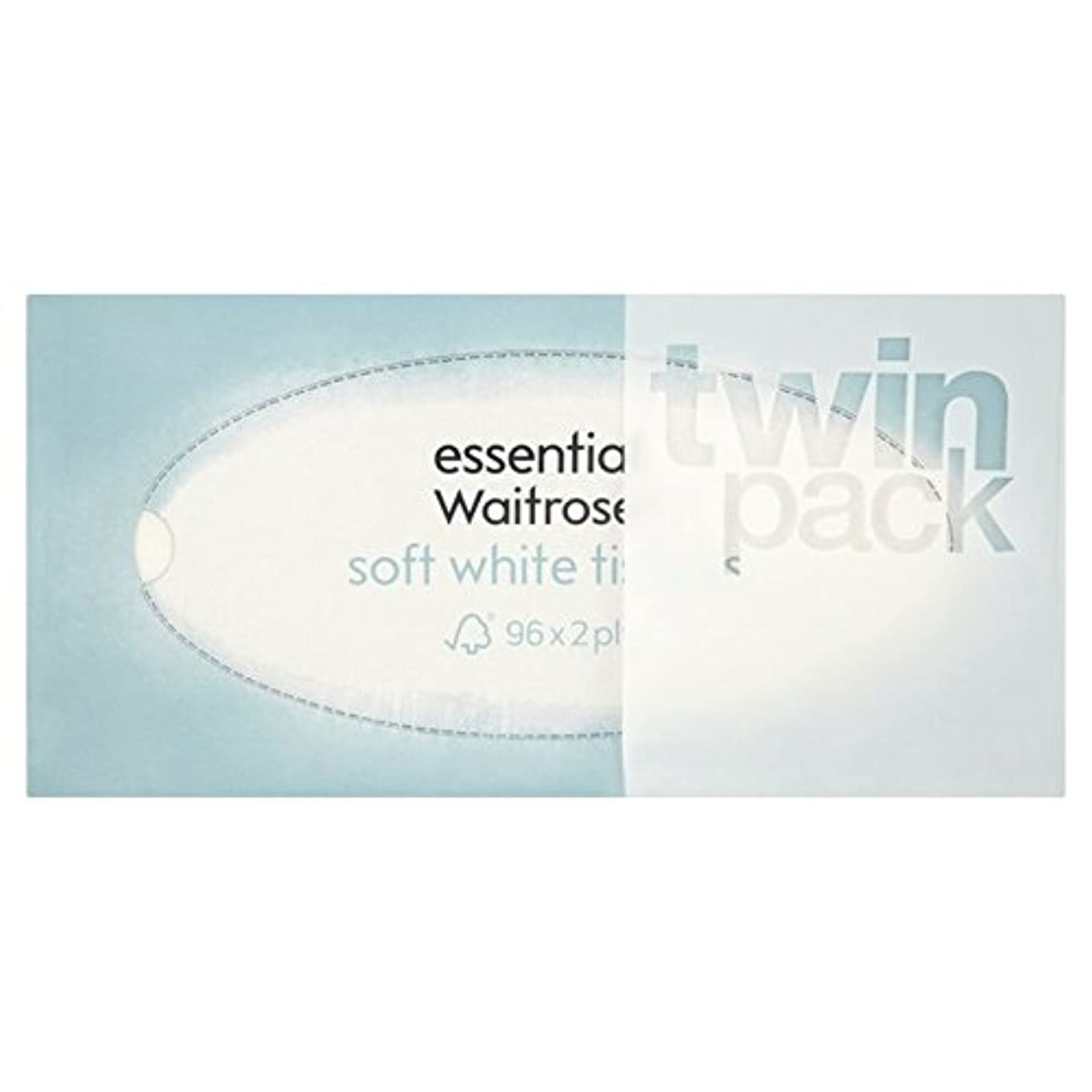 天国取り出すメッセージパックあたりのウェイトローズ2×96不可欠な定期的な柔らかな白い組織 x2 - Regular Soft White Tissues essential Waitrose 2 x 96 per pack (Pack of...