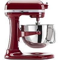 KitchenAid (認定整備済み品)Rkp26m1xCA Professional 600 スタンドミキサー 6クォート 10-スピード キャンディアップルレッド RKP26M1XER_CR