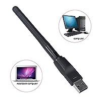 elfishjp USB WIFI無線LAN 子機 2.4G/150Mbps USB WIFI アタブター ワイヤレスネットワーク アダプタ USB2.0対応 wifi アンテナ 150M 高速通信 Windows XP/ Vista/ Windows 7/Win 8/Win10/,Mac 対応