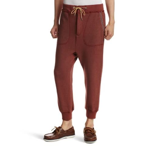 (レヴォ)Revo ポケット刺繍クロップドスウェットパンツ TH-1419  ボルドー 2(L)