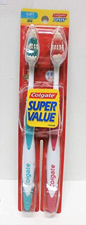 Colgate プラスクリーニングヒント歯ブラシソフト - 2 CT