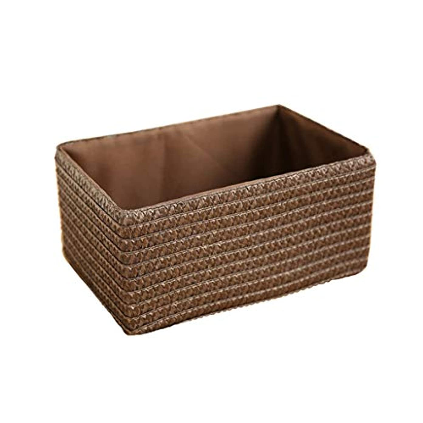 便利さ鉛シャベルQYSZYG 籐貯蔵バスケットストロー織物収納ボックス収納ボックス織りバスケット、コーヒーの色 収納バスケット