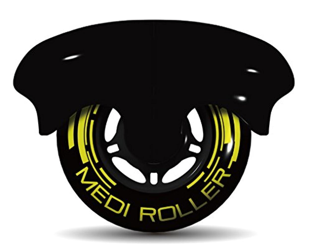 ウェーハ味付けエッセイMEDI ROLLER (メディローラー) 巾着付き 筋肉のコリを点で押すセルフローラー (ブラック)