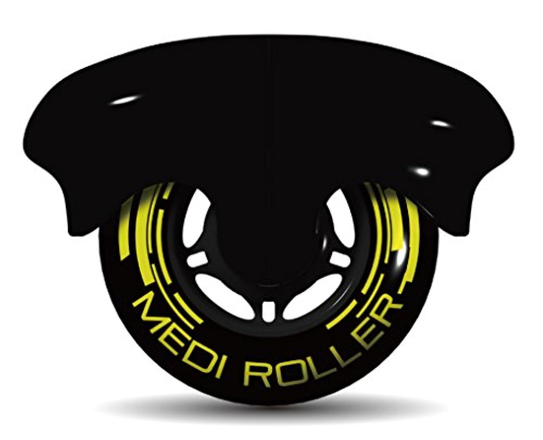 単に慢性的数値MEDI ROLLER (メディローラー) 巾着付き 筋肉のコリを点で押すセルフローラー (ブラック)