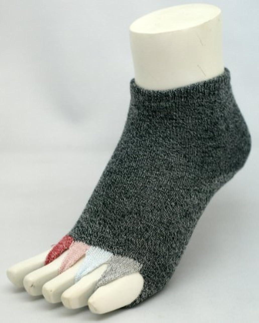 上がる反響する産地指なし健康ソックス マルチ?サイズ23cm~25cm?カラー2色 (クロムク, サーモンピンク) (クロムク)