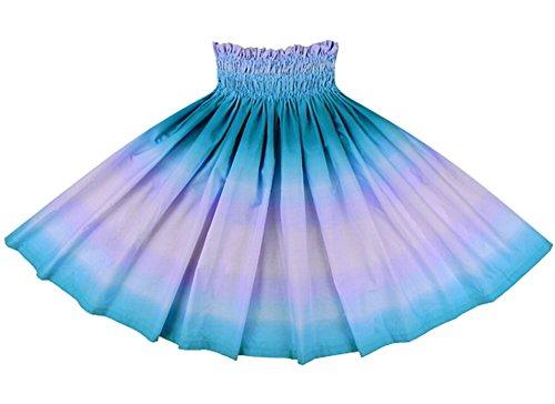 [해외]오더 메이드로 만들어드립니다 (75cm4 개 고무 잠금 마감) 훌라 스커트 보라색과 하늘색의 빠 우스 카토 그라데이션 무늬 2270PPAQ 빠 우스 카토 쇼핑 사양/Made with order made (75 cm 4 books rubber~ rock finish) Skirt for hula dance Purple ...
