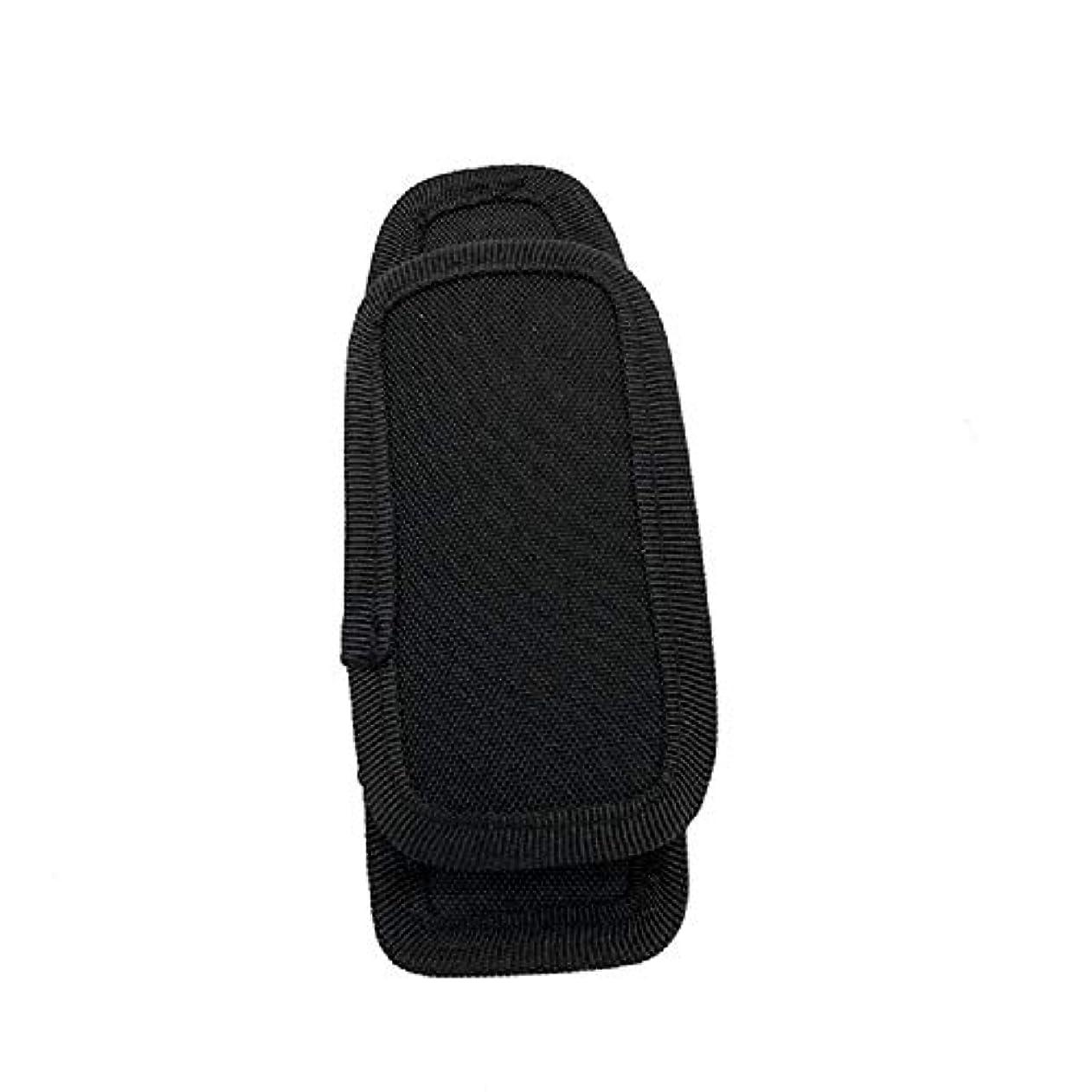 ブレーク弱いの量屋外多機能360度回転懐中電灯セットレジャースポーツバッグユニバーサル懐中電灯ポケット (Color : Black, Size : 15*6*4cm/5.9*2.4*1.6in)