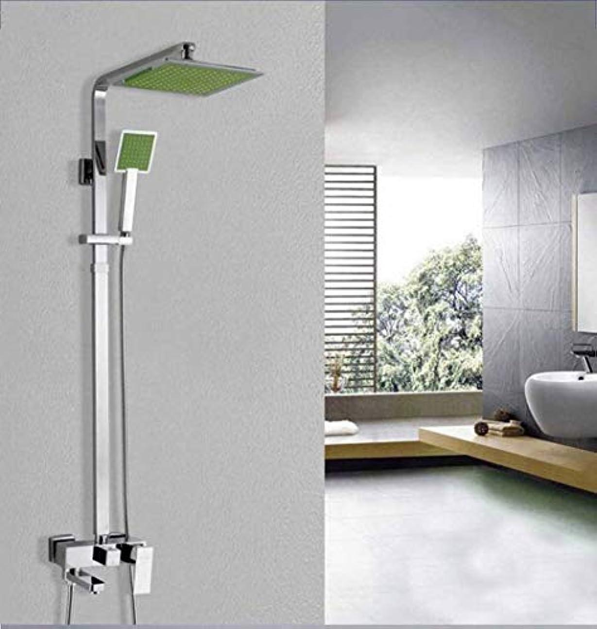 やめる不良品ポータルサーモスタットシャワーシステム、バスルームシャワーミキサーセット新しい1セット浴室バスタブシャワーセットブラスクロームウォールマウントシャワー蛇口ウォーターバスシャワーシステムタップ