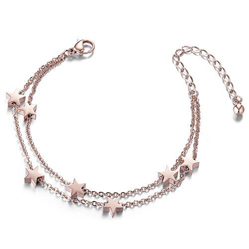 [해외]Sweetiee 티타늄 스틸 이연 스타 형 겹쳐서 표시 스테인리스 순은 팔찌 팔찌 보석 비쥬 여성 액세서리 패션 150mm/Sweetiee Titanium steel binary superimposed stainless steel sterling silver bracelet bangle jewelry bijou ladies accessory f...