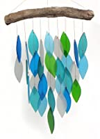 Blue Handworks Glass Waterfall Wind Chime Ocean Blue 【Creative Arts】 [並行輸入品]