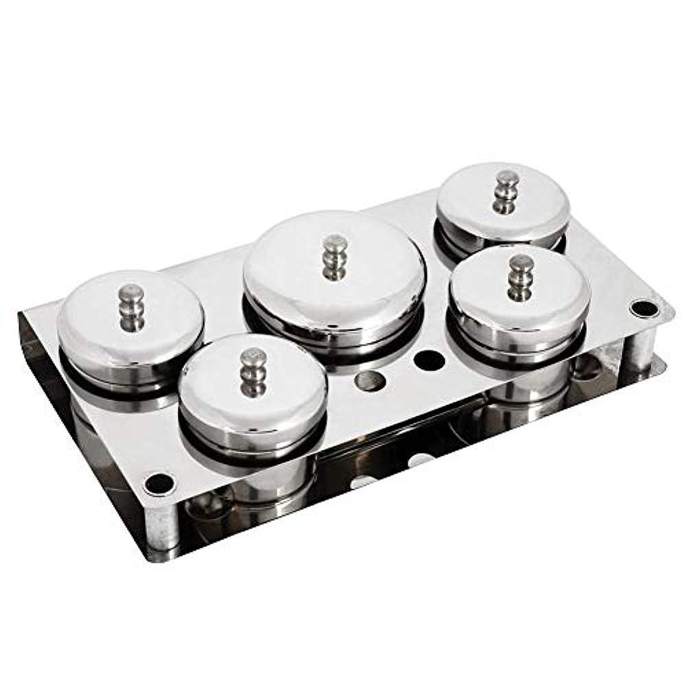 嘆願袋運動5本ネイルアートツール、ステンレス鋼ミニパウダー&リキッドセット缶収納ボックスコンパクトマニキュア機器