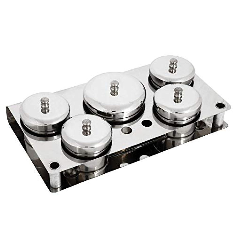 サーバント条約冷酷な5本ネイルアートツール、ステンレス鋼ミニパウダー&リキッドセット缶収納ボックスコンパクトマニキュア機器