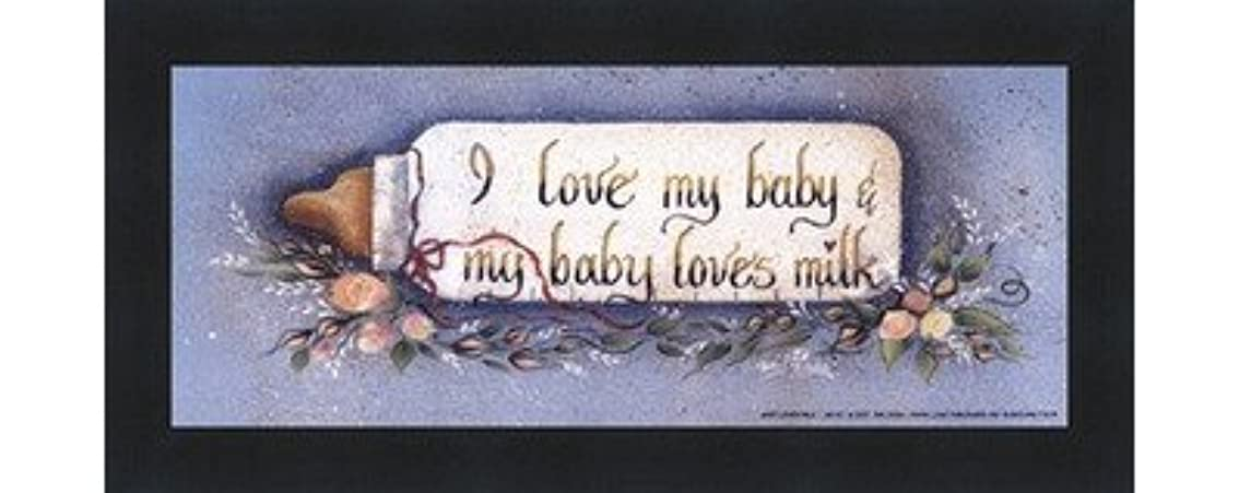 Baby Loves Milk by Gail Eads – 10 x 4インチ – アートプリントポスター LE_613883-F101-10x4