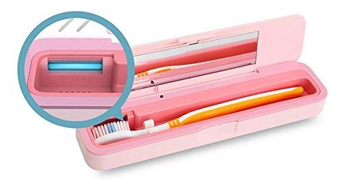 [アイリバー]Iriver Blankポータブル歯ブラシ殺菌器portable toothbrush sterilizer、TBS-100、自動殺菌、抗菌素材、着脱可能な構造、旅行(海外直送品) (White)