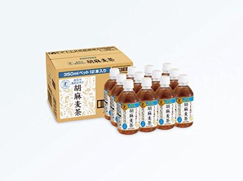 [トクホ] サントリー 胡麻麦茶350mlペット×12本