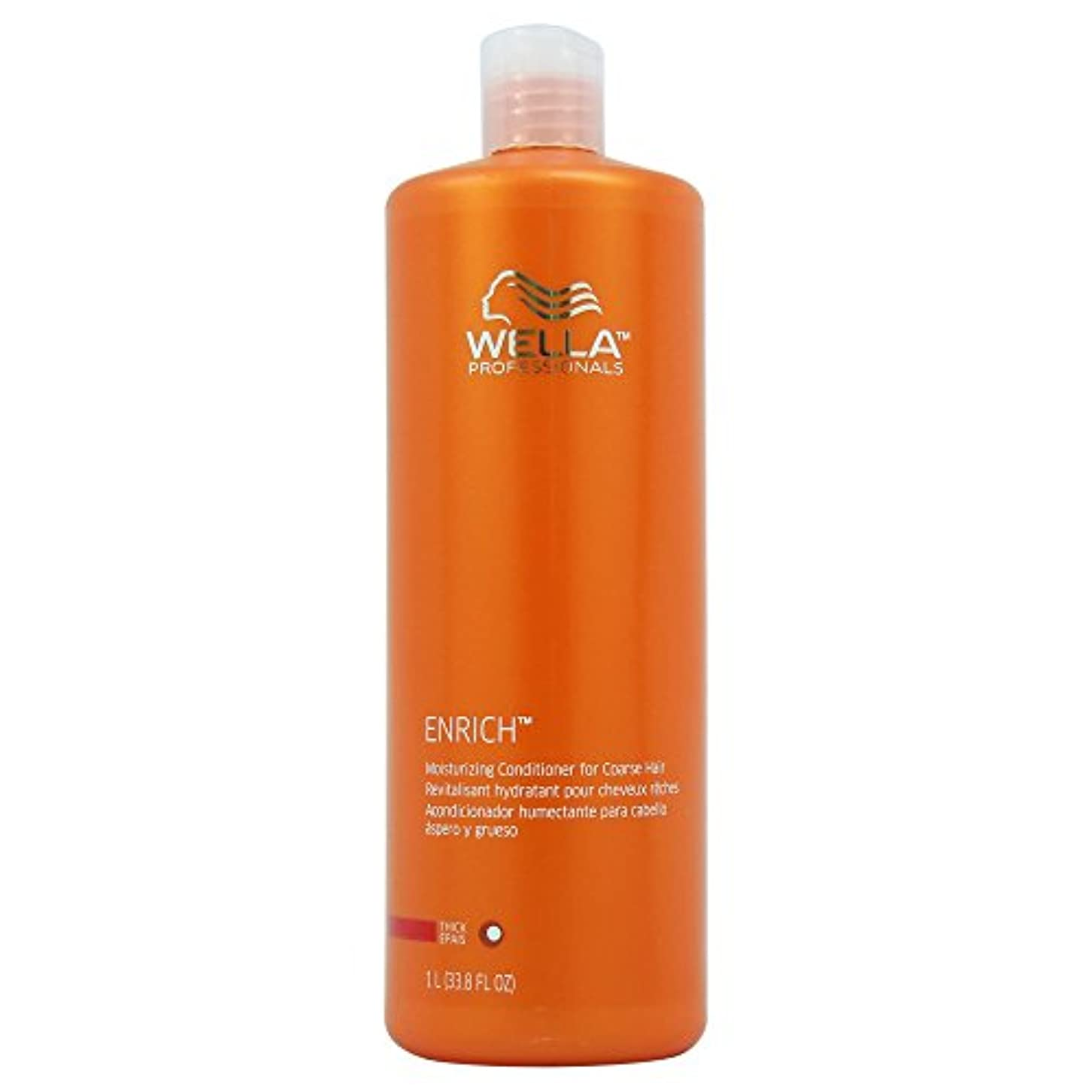 収まる噴出するリーズWella Enriched Moisturizing Conditioner for Coarse Hair for Unisex, 33.8 Ounce by Wella