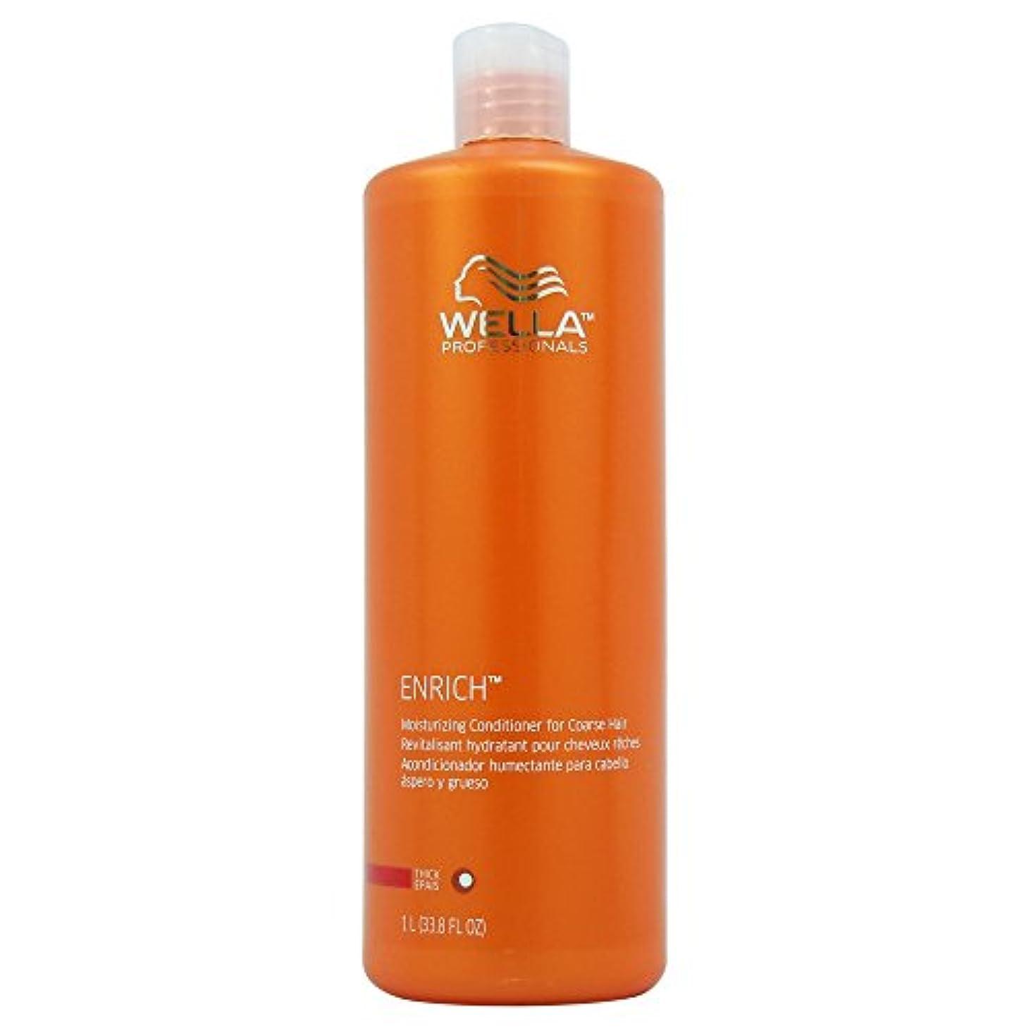 誘惑する葉っぱ表面Wella Enriched Moisturizing Conditioner for Coarse Hair for Unisex, 33.8 Ounce by Wella