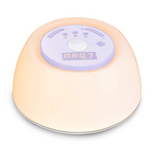 YABAE 「快眠快起・朝晩用に」 光 目覚まし時計 快眠ライト Wake Up Light スヌーズ機能 自然音 アラーム タイマー ベッドサイドランプ 3段階調光 led 時計 テーブルライト usb充電 MY-6