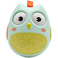 anlydia Chiming Roly - Poly Toy愛らしいフクロウTumbler Baby Toy with Sound for Toddlers and Kids登山Nodding Rolling Eyes