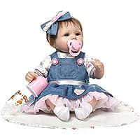 KESOTO 工芸品 衣類付きベビードール 哺乳瓶 おしゃぶり ブランケット 新生児人形 少女ドール おもちゃ