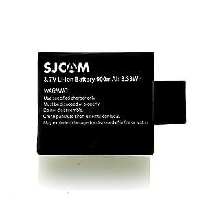 [SJCAM 正規品] SJCAM SJ4000/SJ5000/M10/SJ5000 Plus対応 バッテリーパック 3.7V/900mAh [保証書付属・国内動作検査済]
